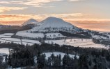 'Sun Setting Over The Eildon Hills' by Carol McKay